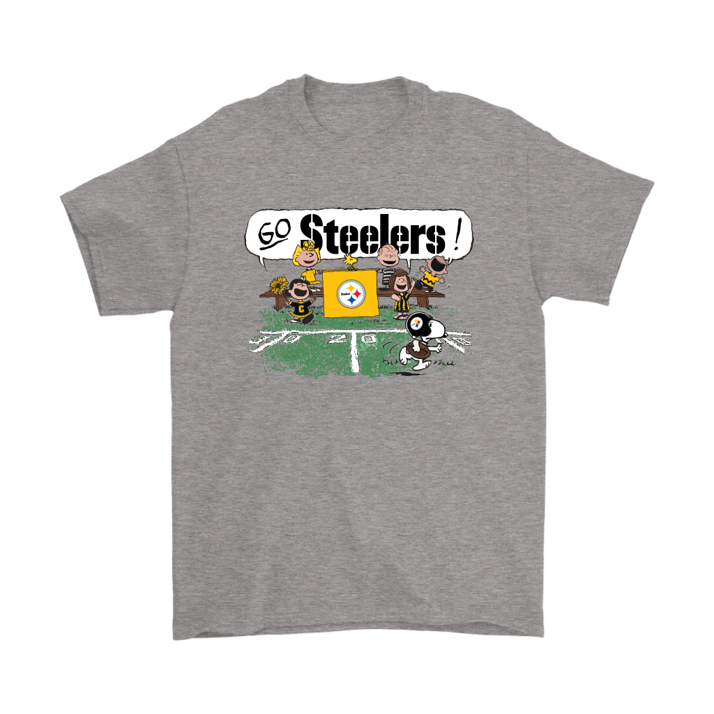 9f611d807 The Peanuts Cheering Go Snoopy Pittsburgh Steelers Shirts-NFL Football T- Shirts
