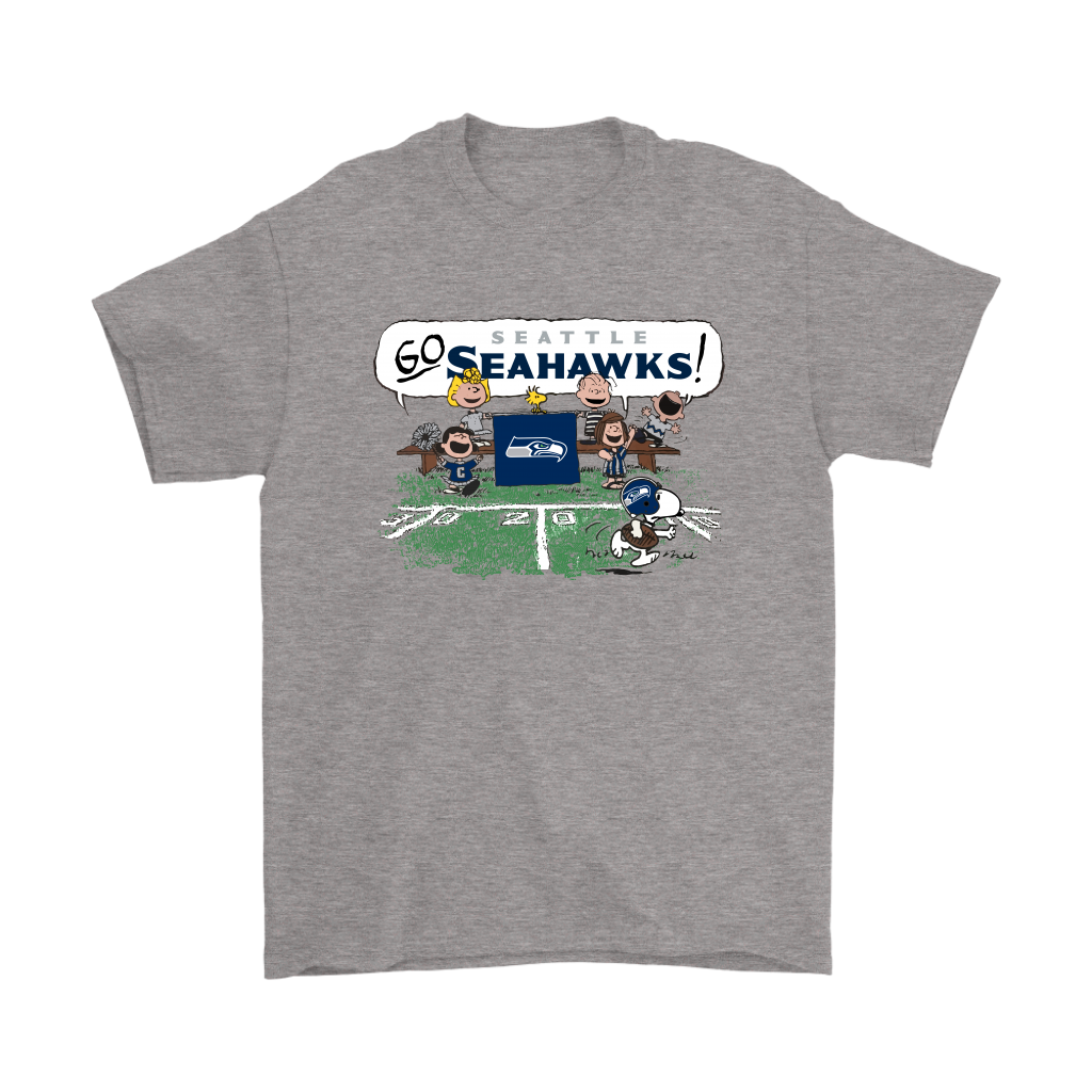 f1d438cfe The Peanuts Cheering Go Snoopy Seattle Seahawks Shirts – American ...