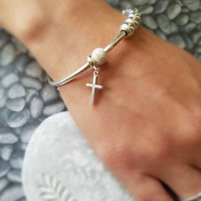 Adorn Silver rosary bracelet collection featured catholic faith gifts for Easter, first communion, confirmation