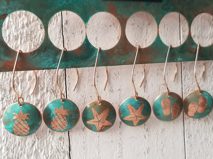 Beach Theme Design Jewelry - Copper Color Patina