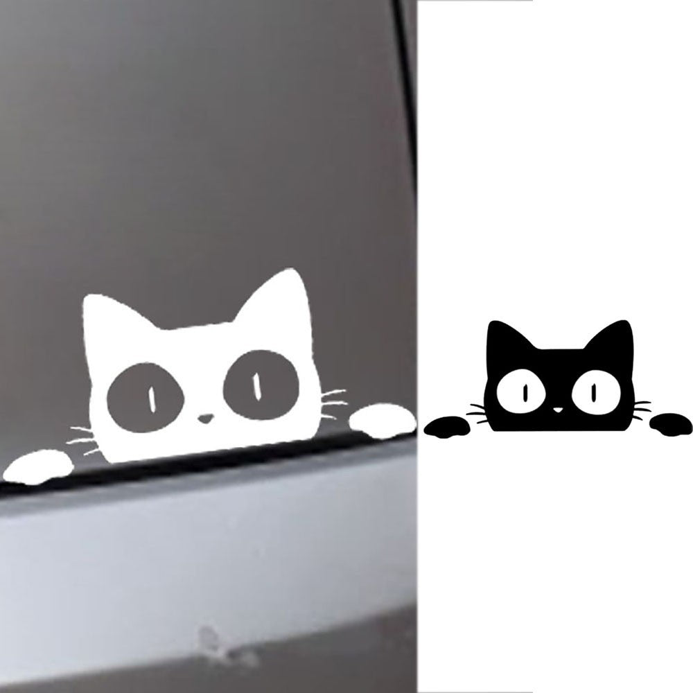 Cat Peek Car Stickers