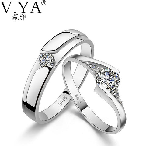 1 Pair of Lover's Ring S925 Solid Silver Rings for Lover Jewelry 100% Real Genuine 925 Sterling Silver Ring ,Tell us the size