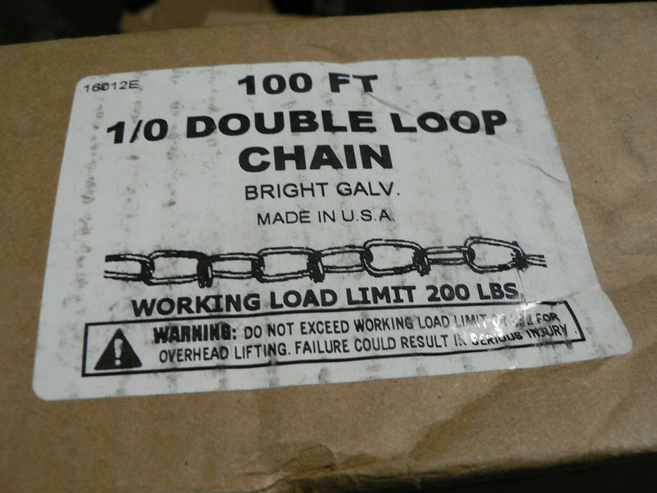 ACCO 1/0 DOUBLE LOOP CHAIN GALVINIZED P/N 680455 M-10 100'