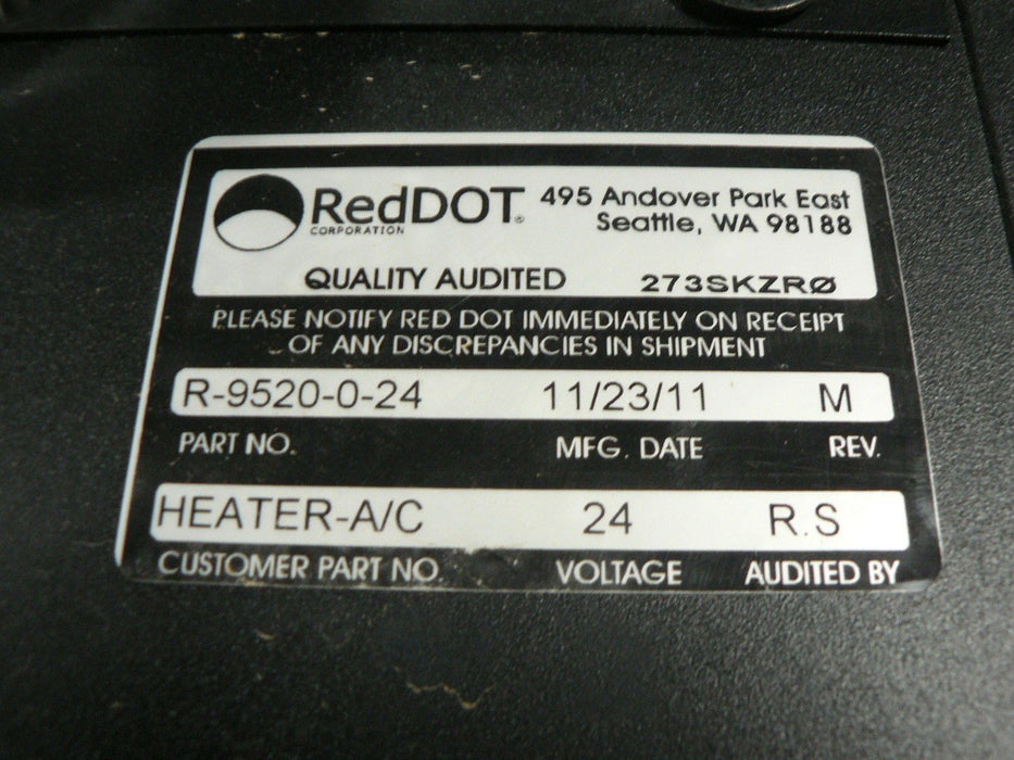 RED DOT COMPARTMENT HEATER R-9520-0-24 NOS