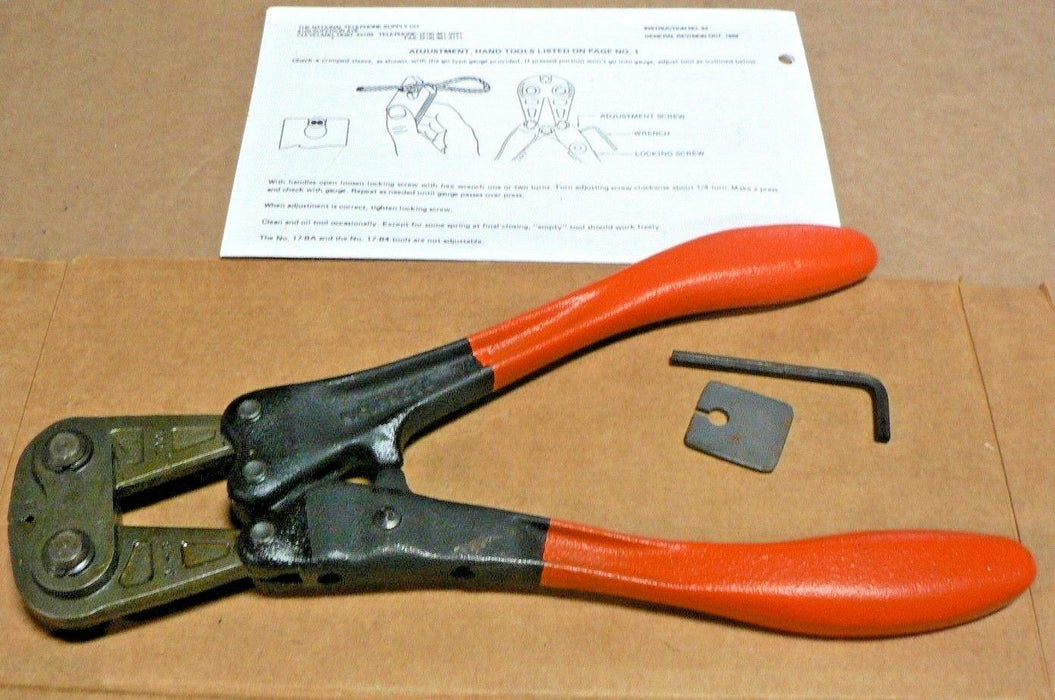 1784 Nicopress Telephone Supply Crimper 31-B Lineman Castiron