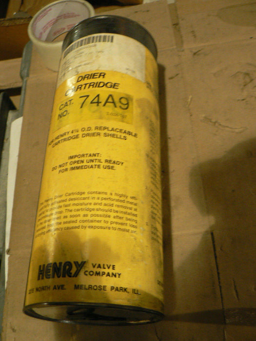 HENRY VALVE DRIER CARTRIDGE 74A9 (NOS)