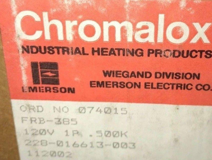 CHROMALOX HEATING ELEMENT FRB-385 120V 500 WATT