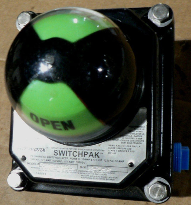 NEW EMERSON TOPWORX SWITCHPAK SSP-XPM2GR APPLICABLE TO TYPE 1080 MANUAL ACTUATOR