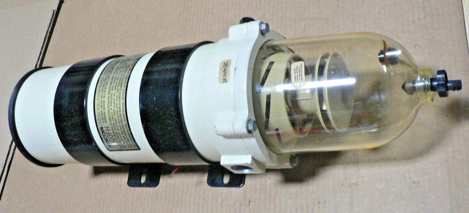 Parker Racor 1000FH10  Fuel Filter / Water Separator 180 GPH 10 Micron 24V