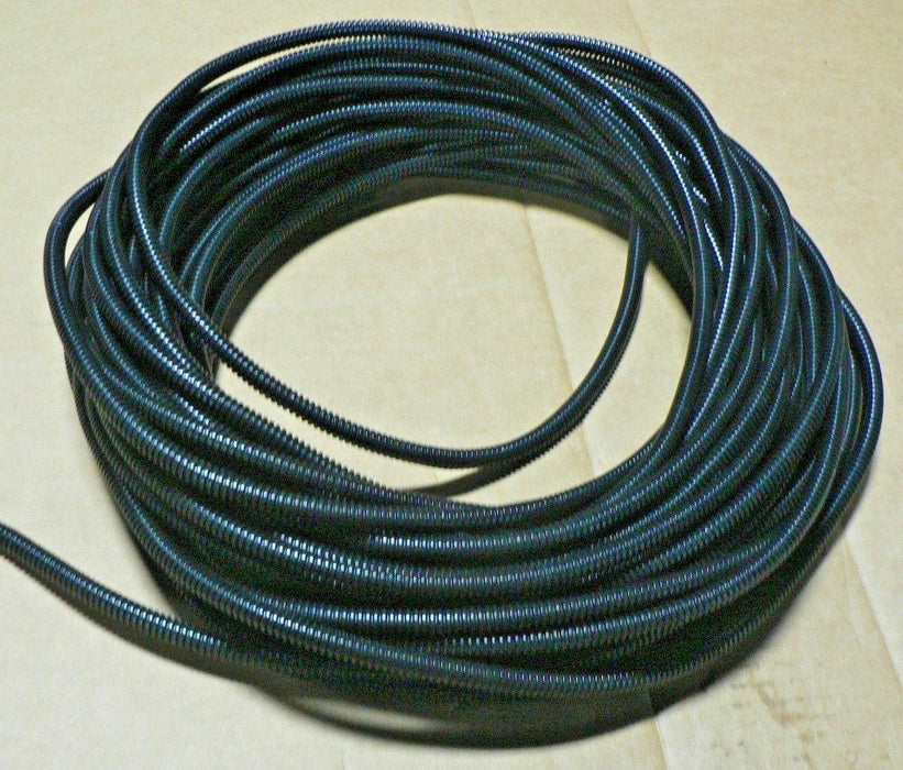 100 Ft 1/4 Split Wire Loom Conduit Polyethylene Tubing Black Color Sleeve Tube