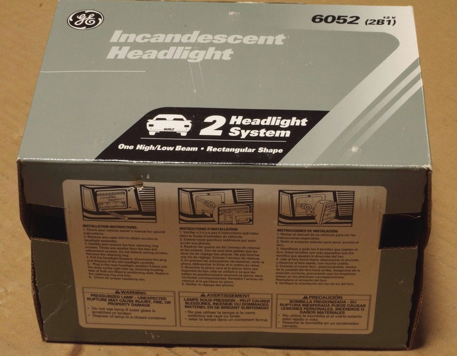 GE INCANDESCENT HEADLIGHT 6052