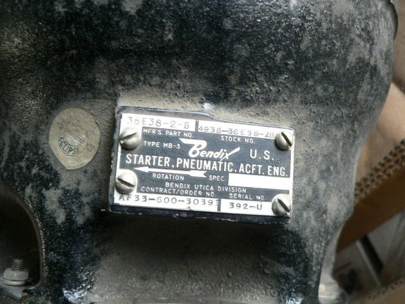 PNEUMATIC AIRCRAFT STARTER USED CORE MB-3 36E38-2-B