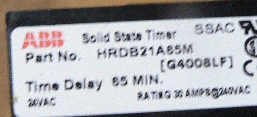 ABB SOLID STATE TIMER HRDB21A65M
