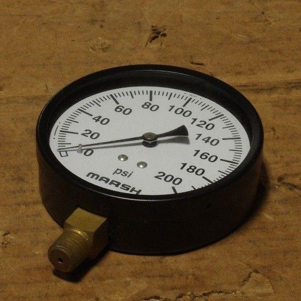 MARSH PRESSURE DIAL GAGE 35J54E 3.5 STD J8054AE-001 5PS39 0-200 PSI