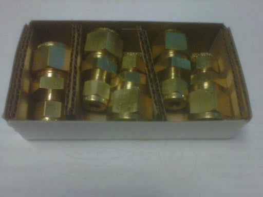 (box of 5) Swagelok B-810-6-4 Brass Reducing Union 1/2 in OD - 1/4