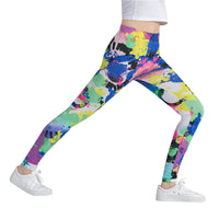 Ink Splash Abstract Leggings