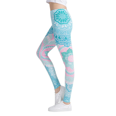 Aztec Mandala Printed Leggings