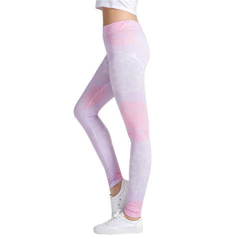 Pink Grey Mandala Leggings