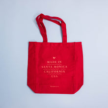 "Red ""Made in Santa Monica"" Tote"