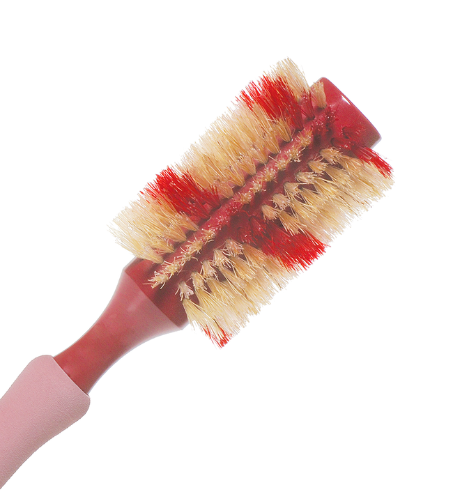 NATURAL BOAR ROUND HAIR BRUSH 3""