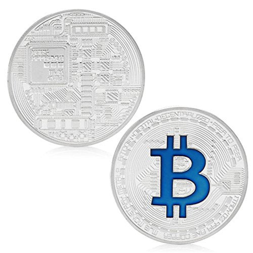 Bitcoin Silver Plated Titan Commemorative Coin Collectible Physical IN CASE