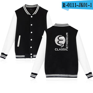 Ethereum Baseball Jacket Men/Women Fashion Uniform