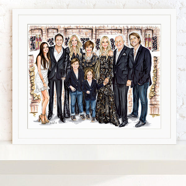 Commissioned Family Portrait for Rachel Zoe and Rodger Berman by Jen Lublin