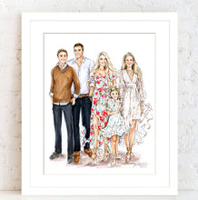 PREMIER Custom Group Illustration with Solid Background ~ 5+ Full Figures (Starting at $1,200 +)