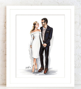 PREMIER Custom Illustration with Solid Background ~ 1 - 2 Full Figures
