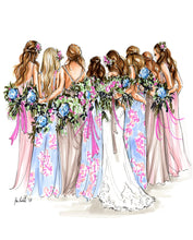 PREMIER Custom Wedding Illustration - Solid Background ($700 - $1,600)
