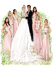 PREMIER Custom Wedding Illustration - with Background ($1,000 - $1,900)