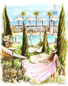 Tuscan Dreams ~ Hotel Il Pellicano (Original Artwork)