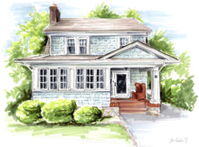 BASIC Custom Whimsical Home & Landscape Illustration (Starting at $500+)