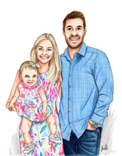 PREMIER Custom Detail Portrait - Solid Background (Starting at $850+)