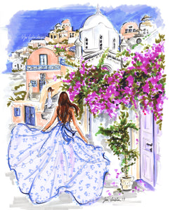 Under the Santorini Sun (Original Artwork)