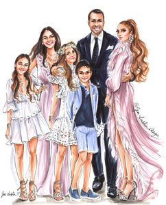 RESERVED - JLO & Arod Exclusive Family Portrait (Original Artwork)