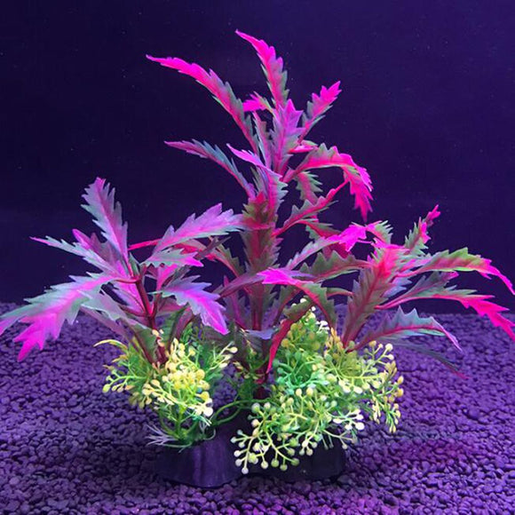 14cm Plastic Simulation Water Grass Artificial Plant Landscape Aquarium Decoration Brightly Colored Fish Tank Landscape Ornament - Pets Emporium