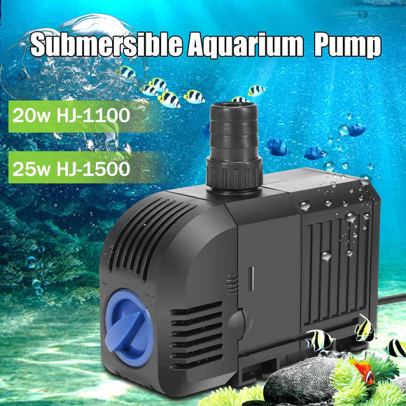 20W/25W Adjustable Changeable Sponges Submersible Water Pump Aquarium Air Fish Tank - Pets Emporium