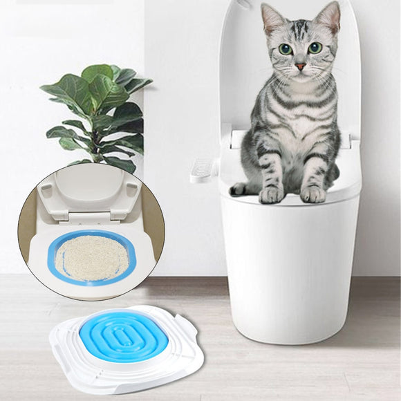 Cat Toilet Trainer Plastic Puppy Kitten Litter Box Cats Training Litter Tray Mat Pets Cleaning Toilet Seat Supplies - Pets Emporium