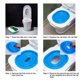 Cat Toilet Training Kit Litter Box 40 * 40 * 3.5cm ABS Cat Toilet Trainer Help Train Your Cat to Use Toilet for Cat Kitty Kitten - Pets Emporium