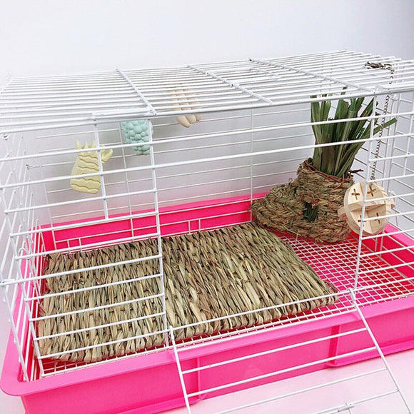 Hamster Grass Weaving Mat Small Pet Nest Squirrel Guinea Pig Ferret Rabbit Edible Molar Handmade Hay Mat Pets Cage Accessory - Pets Emporium