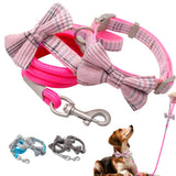 New Dog Collar And Leash Set Cute Bowtie Dogs - Pets Emporium