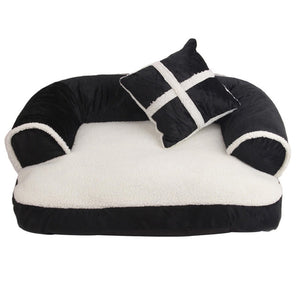 Pawstrip Luxury Pet Dog Sofa Beds With Pillow - Pets Emporium