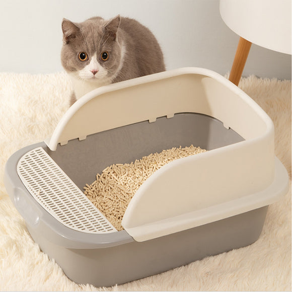 Dog Cat Toilet Bedpan Anti Splash Cats Litter Box Cat Dog Tray with Scoop Kitten Dog Clean Toilette - Pets Emporium
