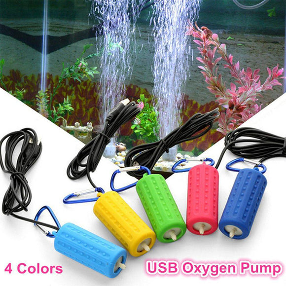 Portable Mini USB Aquarium Fish Tank Oxygen Air Pump Mute Energy Saving Supplies Aquatic - Pets Emporium