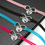 "Small Dog Cat Collar Leather ""Best Friends"" Paw - Pets Emporium"