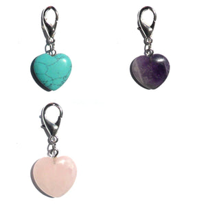Pet Gemstone Crystal Heart Charms - Pets Emporium