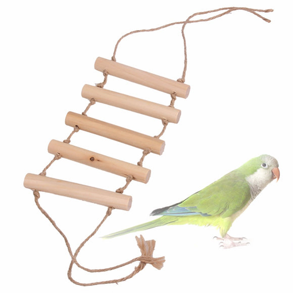 Small Wooden Toys Bridge Ladder for Parrott  Bird Cage