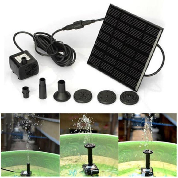 Outdoor Solar Powered Bird Bath / Water Fountain with Pump For Pool Garden or Aquarium (2 - 3 days delivery) - Pets Emporium