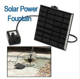 Outdoor Solar Powered Bird Bath / Water Fountain with Pump For Pool Garden or Aquarium